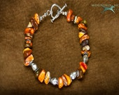 Knotty Orange Magnesite Bracelet