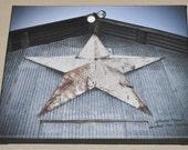 Star Of Texas Barn On Canvas