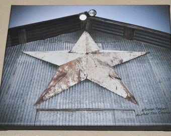 Star Of Texas Barn On Canvas