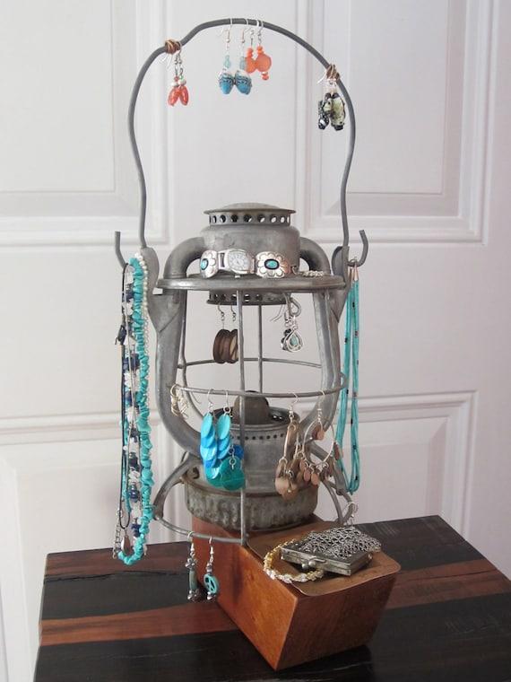 Vintage Lantern Jewelry Holder