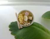 Noodle Soup  Ring - Your choice of Udon, Ramen, Miso or Shrimp. Pics of all inside-