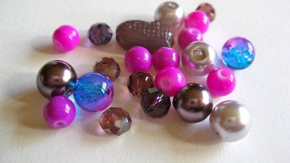 Purple Passion Glass Bead Mix- 22pcs