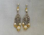 jewellery-earings-Beautiful vintage wedding, pearls  Earings ........ FREE SHIP
