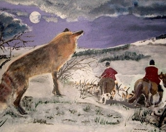 Outfoxed  -  Print of Original Painting by Dave Smith