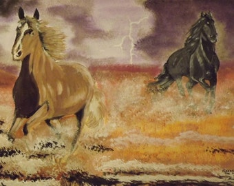 Fleeing the Storm - Original Acrylic Painting