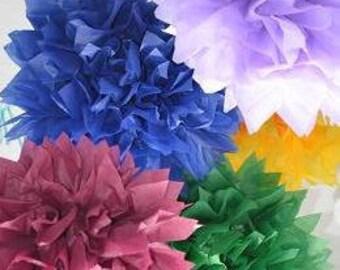 4 Pom Pom kit- You choose COLORS tissue paper poms // diy // wedding decoration // baby shower // party decor