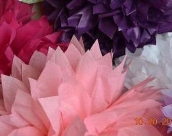 Girls Birthday decorations - 5  SMALL Pom Poms -You choose COLORS tissue paper poms / wedding decoration // baby shower // party decor