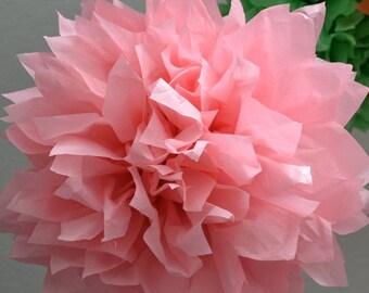 1 LARGE- LIGHT PINK Pom Pom kit- tissue paper poms // diy // wedding decoration // baby shower // party decor