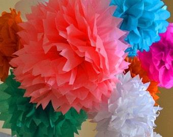 FREE SHIP 30 Tissue Pom poms, tissue flower, Poms, hanging flower