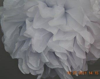 1 MEDIUM WHITE- Pom Pom kit- tissue paper poms // diy // wedding decoration // baby shower // party decor