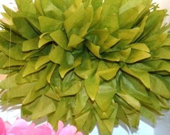 1 MEDIUM OASIS- Pom Pom kit- tissue paper poms // diy // wedding decoration // baby shower // party decor