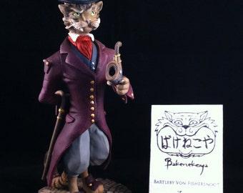Limited edition Gentleman Cat sculpture