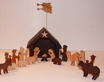 Scroll Saw Nativity Set