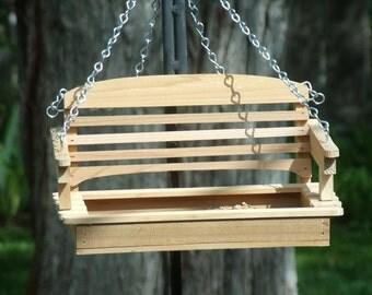 Classic Swing  Bird Feeder in Solid Cedar