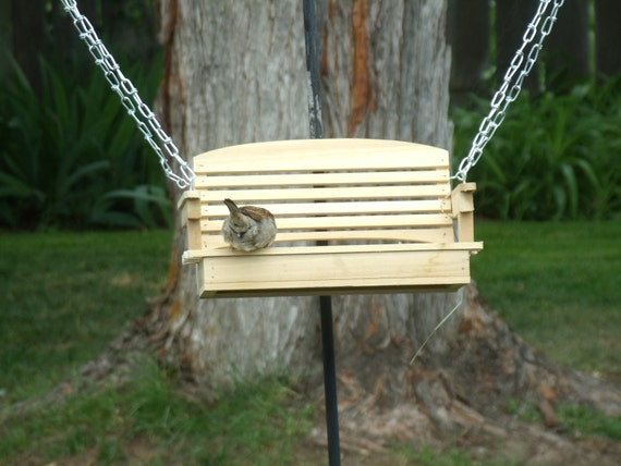 Porch Swing Bird Feeder - Classic Style (Handcrafted)