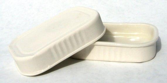 Set of 3 Porcelain Sardine Cans