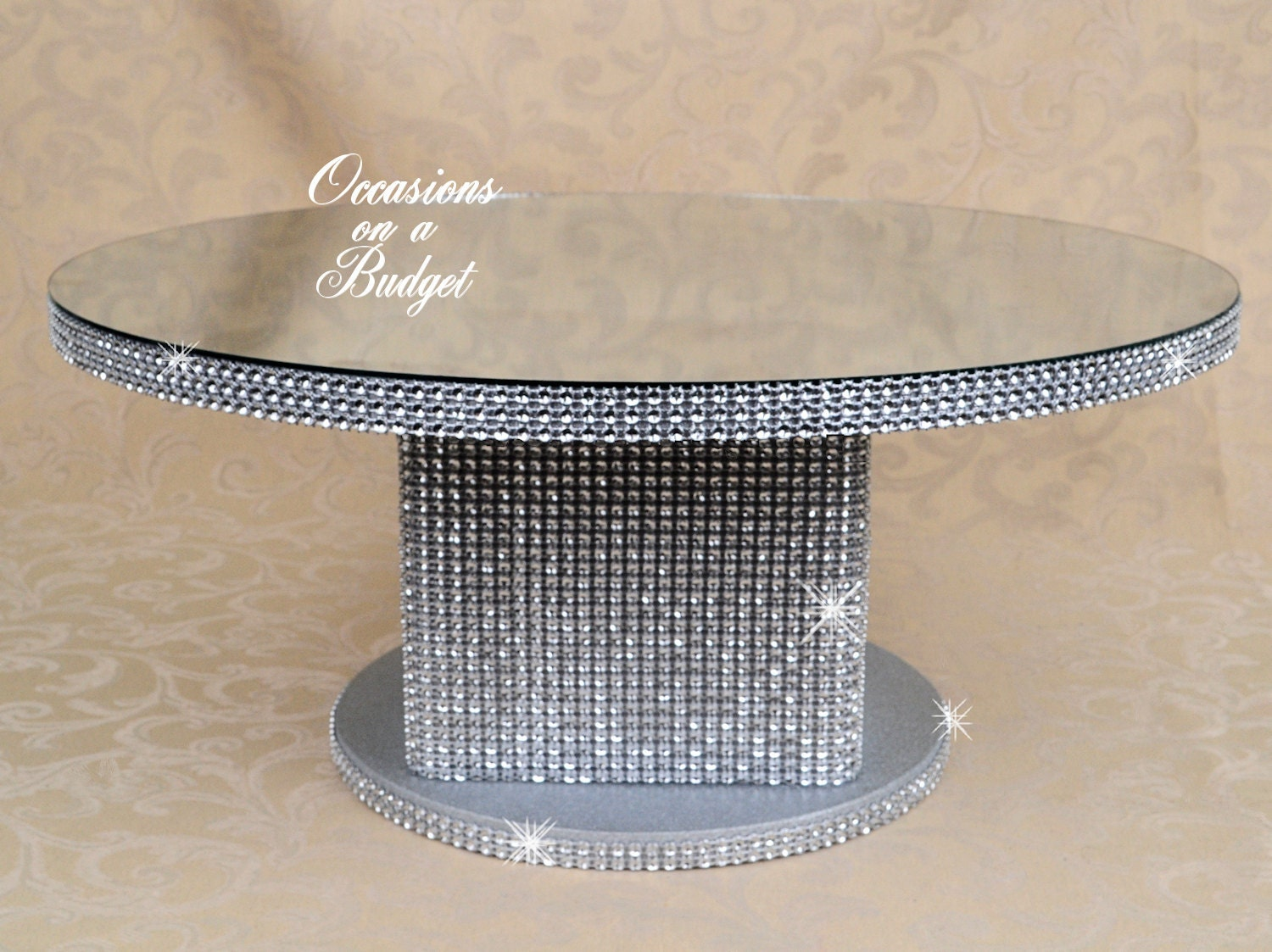 Round 16 bling cake stand rhinestone cake stand for How to make a cake stand