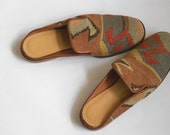 Vintage kilim and leather shoes