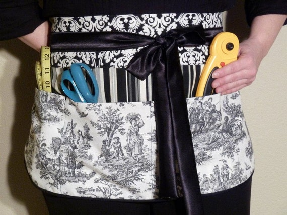 Classy Black and White- Womens Utility Apron