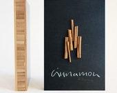 Cinnamon: Still Life Photograph Mounted on 6x4 Bamboo Panel