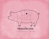 Tenderloin - Indiana Born and Breaded - Pink 8x10 print