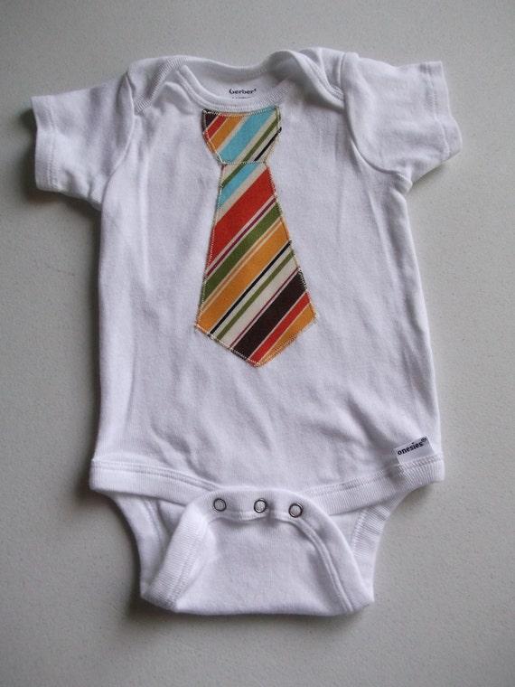 Tie Applique Onesie 0-3 months