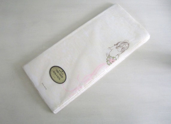 Vintage 1970s Paper Table Cloth New in Package Bridal