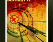 LIMITED EDITION The Hunger Games Fan Art Poster District 12 Print  8x10
