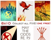 The Hunger Games Fan Art Collection - 8x10 - Buy 4 get 1 FREE plus FREE SHIPPING