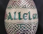 Alleluia Celtic Easter Egg