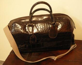 GUCCI vintage Crocodile luggage