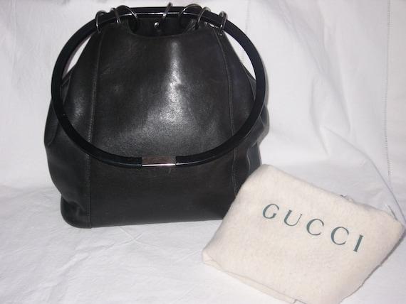 GUCCI vintage black handbag