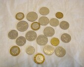 Lot of 21 Francs and Centimes