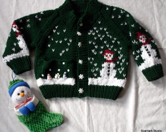 Child's Hand Knitted Sweater