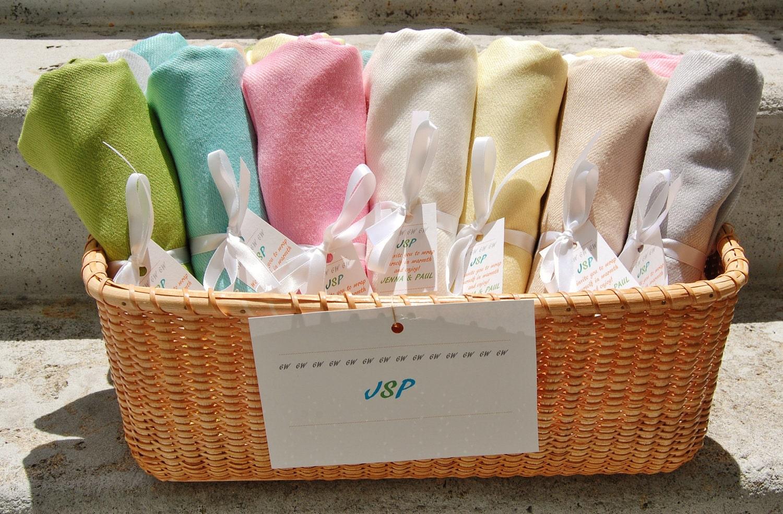 Bridesmaid Wedding Gift: 20 PASHMINA SHAWL BASKET. You Can Choose Any Color. Bridesmaid