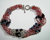 9 inch 8 Strand Red Ruby Anklet