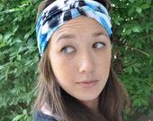 Twisted Turban Headband - Blue Haze