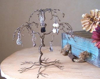 Jewelry Tree Display Stand, Earring Holder and Organizer - Willow Tree - MADE TO ORDER