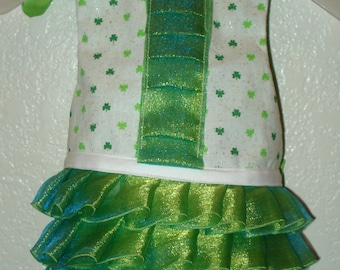 Ruffled Clover's Dress- X-Small