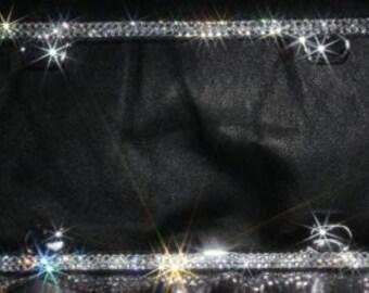 CLEAR CRYSTAL Swarovski Crystal License Plate Frame - 2 ROWS