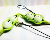Two Peas In A Pod Phone Charm