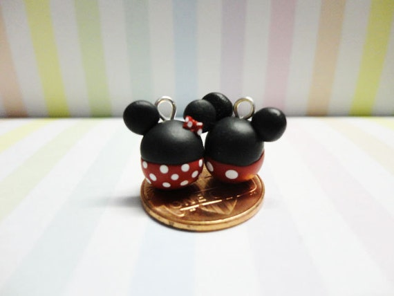 Minnie & Mickey Mouse Couple Phone Charm Set