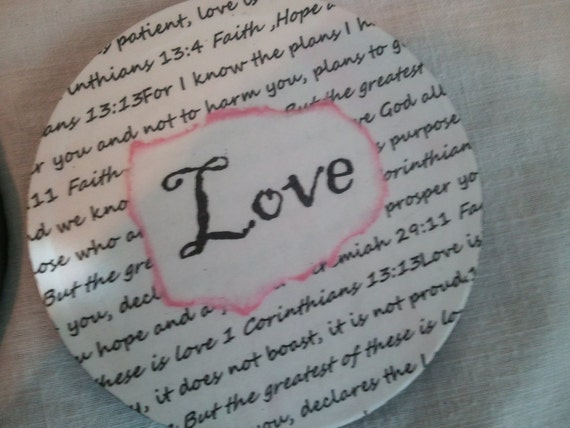 Faith Hope and Love Stone Coasters