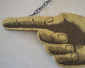 Vintage 'This Way' Pointing Finger Sign