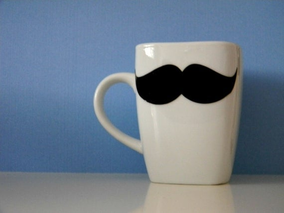 Father's Day Mustache Mug