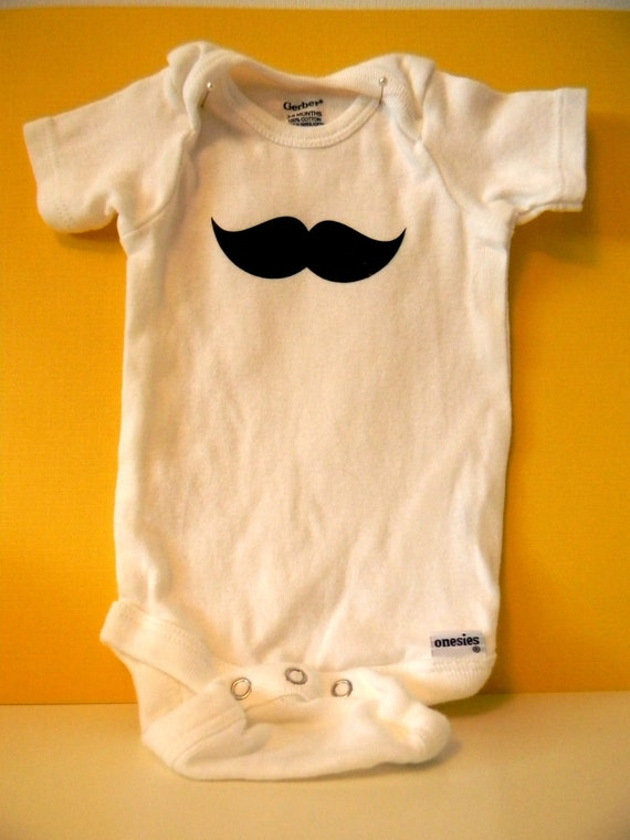 Mustache Onesie: The Charles 3 to 6 mo