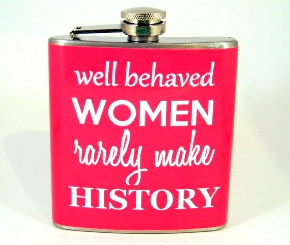Flask : Well Behaved Women in Pink