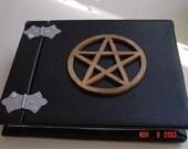Black Journal Book - Book of Shadows - Large Pentacle