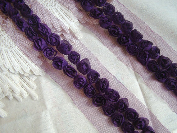 3D Lace Trim  Rosette Grenadine Mesh Wedding Costume Hat Handbag Supplies Trim Alterations DIY Fabric Crafts Supplies