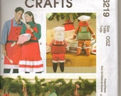 McCall's Crafts Uncut, Unused, New Packaging Christmas Crafts Pattern M6219 OSZ